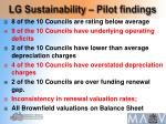 lg sustainability pilot findings