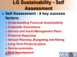 lg sustainability self assessment