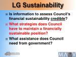 lg sustainability