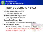 begin the licensing process