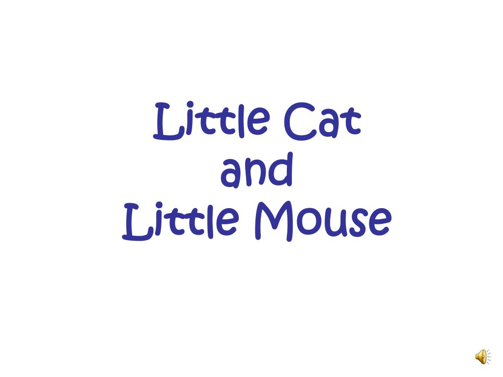 little cat and little mouse l.