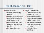 event based vs oo