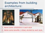 examples from building architecture