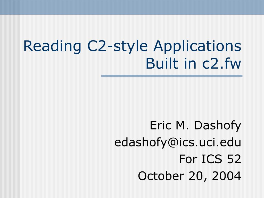 reading c2 style applications built in c2 fw l.