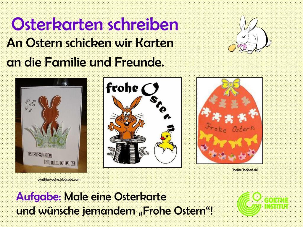Osterkarten schreiben