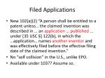 filed applications