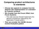 comparing product architectures to standards