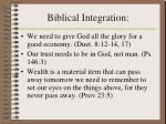 biblical integration
