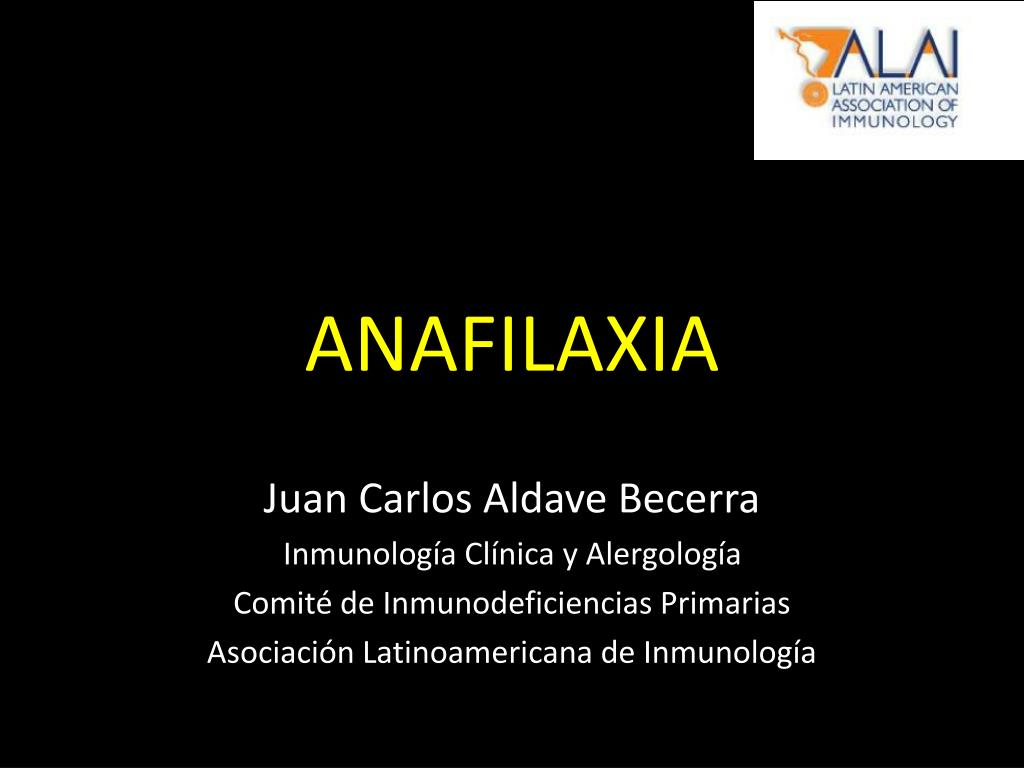 anafilaxia l.