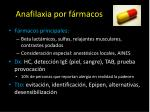 anafilaxia por f rmacos