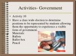 activities government