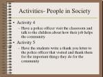 activities people in society