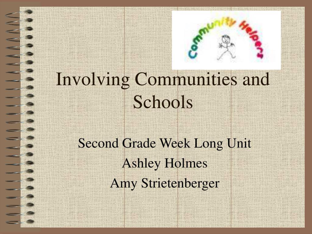 involving communities and schools l.