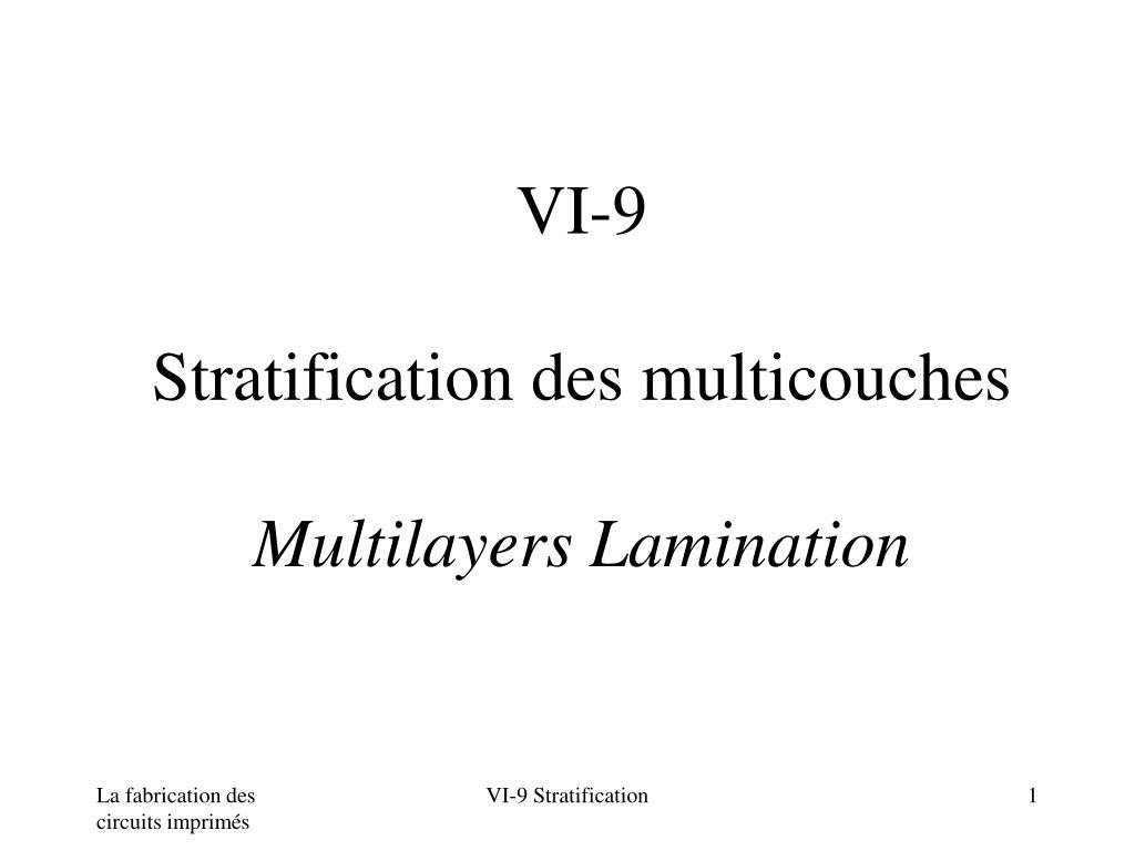 vi 9 stratification des multicouches multilayers lamination l.