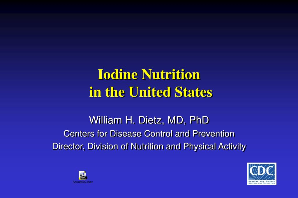 iodine nutrition in the united states l.