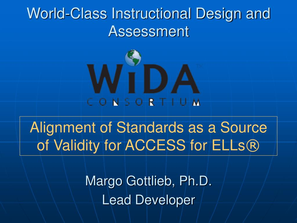 world class instructional design and assessment l.