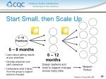 start small then scale up