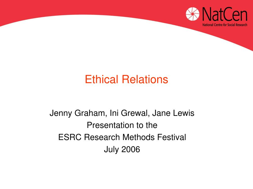 ethical relations l.