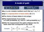 a model of qubit