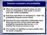 quantum computers and probability
