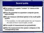 several qubits