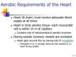 aerobic requirements of the heart
