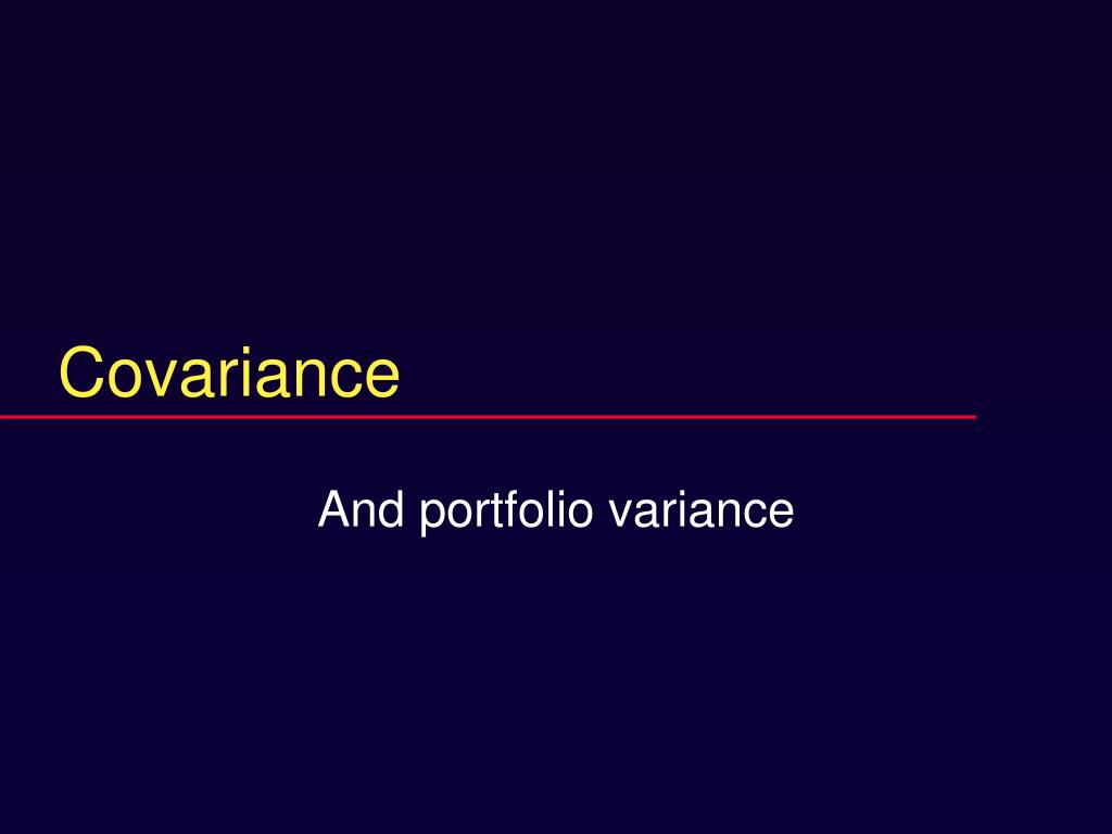 covariance l.