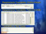 requirements traceability child to parent
