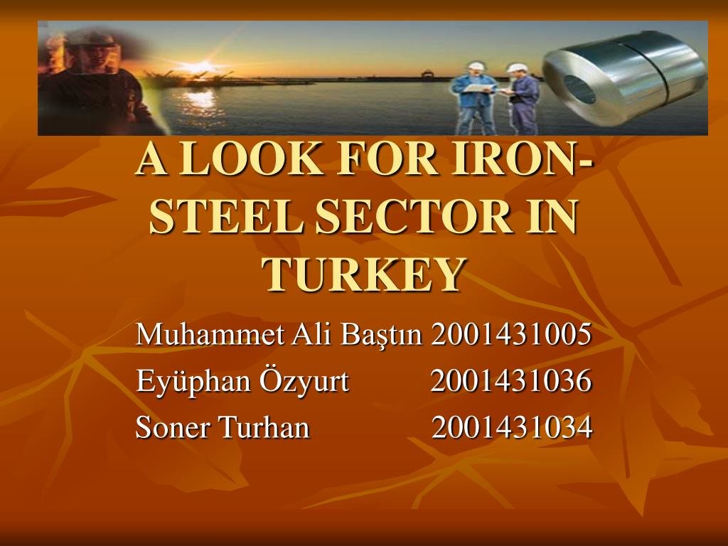 a look for iron steel sector in turkey l.