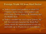 foreign trade of iron steel sector12