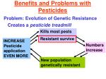 benefits and problems with pesticides12