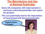 the manufacture and use of banned pesticides
