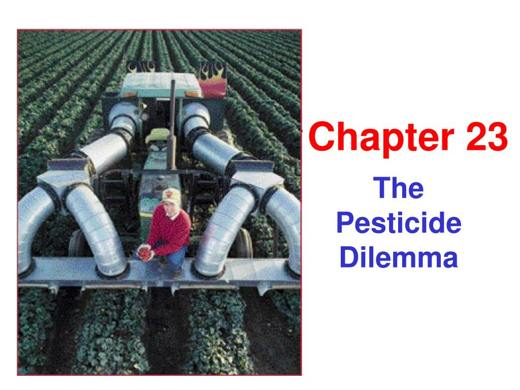 the pesticide dilemma l.