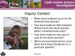 inquiry context