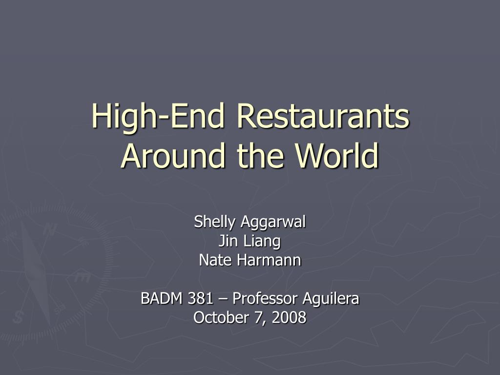 high end restaurants around the world l.