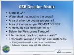 czb decision matrix