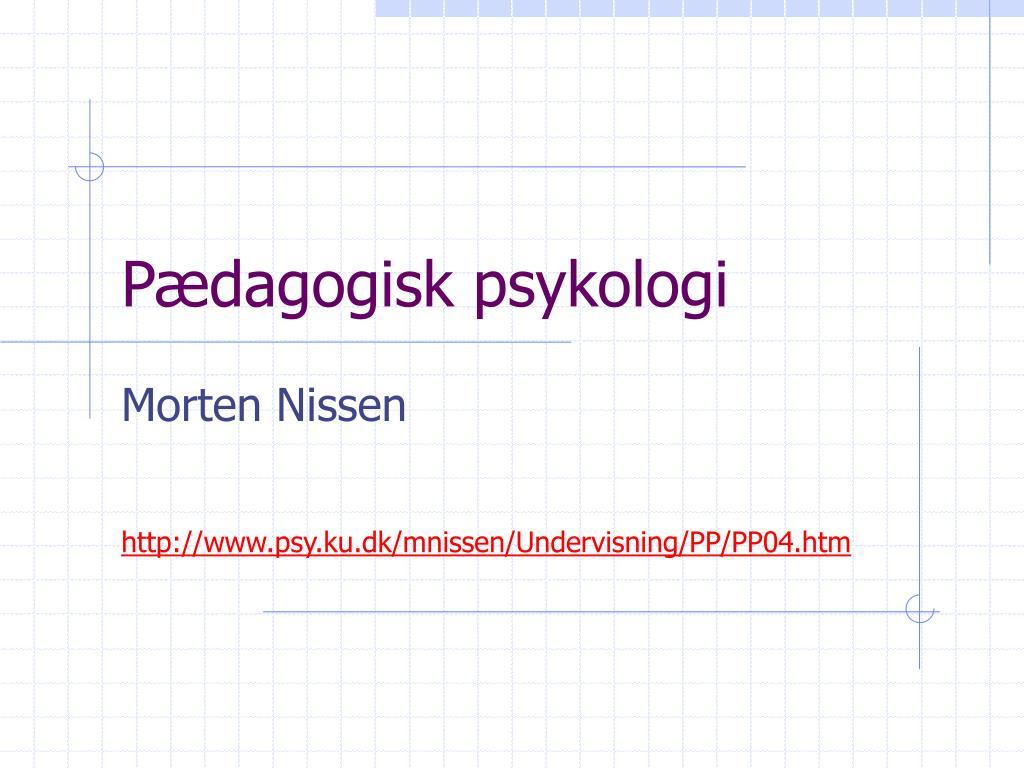 p dagogisk psykologi l.