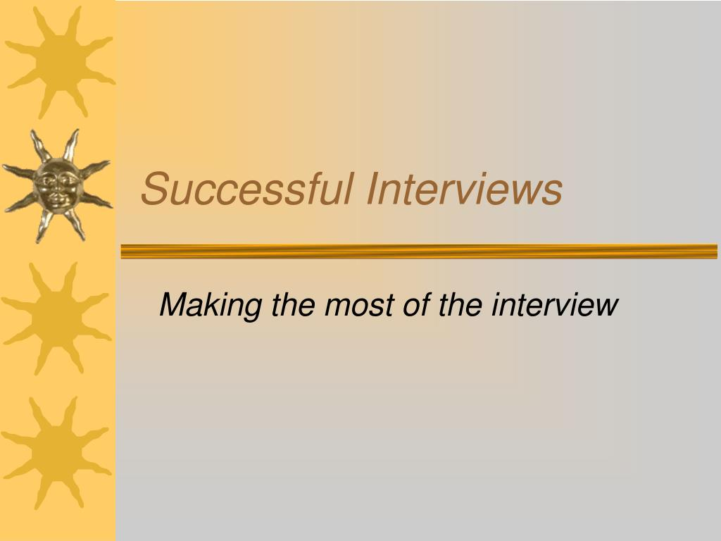successful interviews l.