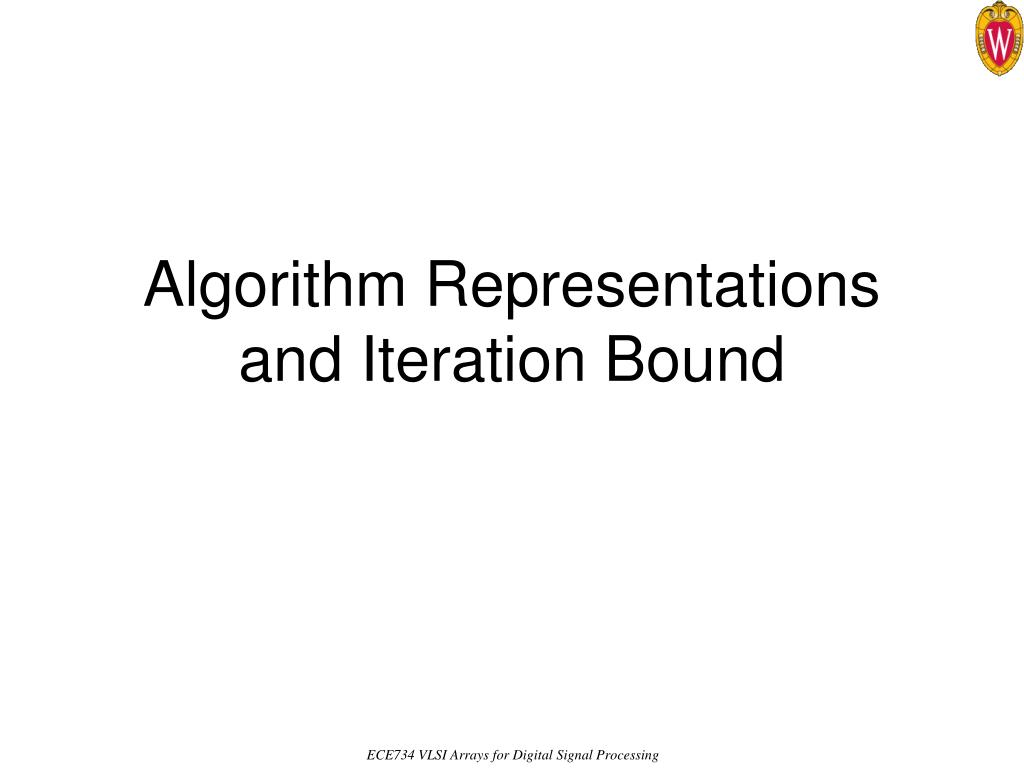 algorithm representations and iteration bound l.