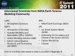 interviewed scientists from nasa earth science modeling community