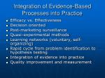 integration of evidence based processes into practice