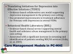 care management models in pc mhi