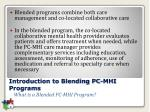 introduction to blending pc mhi programs