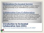 introduction to co located collaborative care ccc