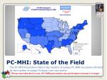 pc mhi state of the field