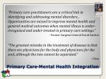 primary care mental health integration