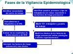 fases de la vigilancia epidemiol gica