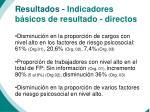 resultados indicadores b sicos de resultado directos