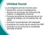 utilidad social