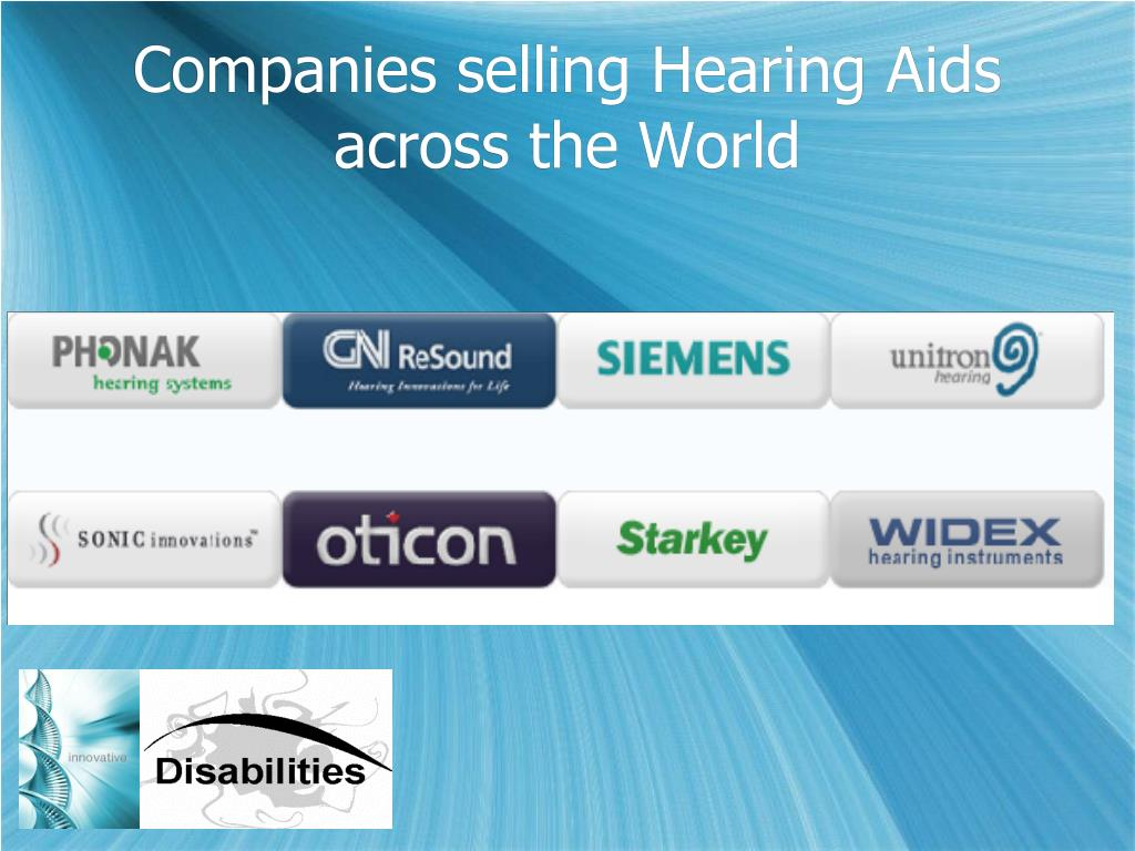 Companies selling Hearing Aids across the World